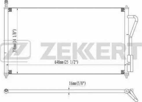Zekkert mk-3031 - Конденсатор, кондиционер autodnr.net