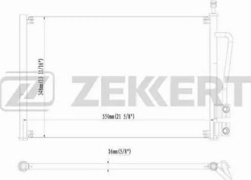 Zekkert mk3058 - Конденсатор, кондиционер autodnr.net