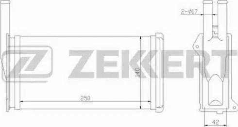 Zekkert mk5002 - Теплообменник, отопление салона autodnr.net