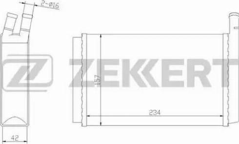 Zekkert mk5007 - Теплообменник, отопление салона autodnr.net