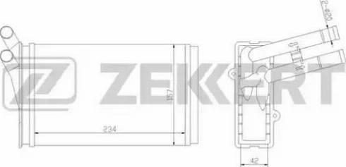 Zekkert mk5009 - Теплообменник, отопление салона autodnr.net