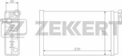 Zekkert mk-5011 - Теплообменник, отопление салона autodnr.net