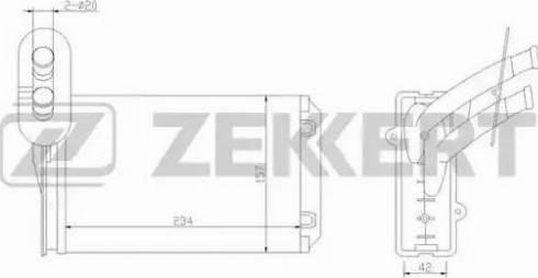 Zekkert mk5013 - Теплообменник, отопление салона autodnr.net