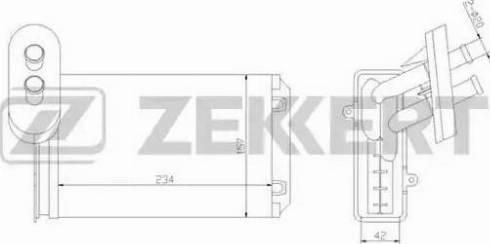Zekkert mk5014 - Теплообменник, отопление салона autodnr.net