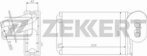 Zekkert mk5016 - Теплообменник, отопление салона autodnr.net