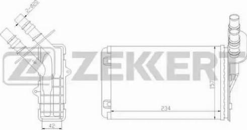Zekkert mk5019 - Теплообменник, отопление салона autodnr.net