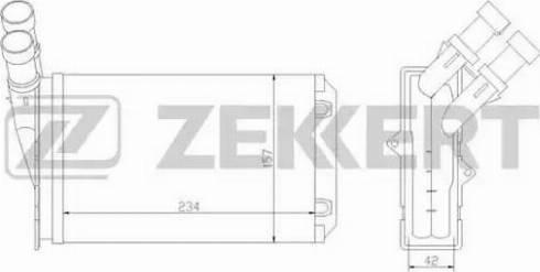Zekkert mk5020 - Теплообменник, отопление салона autodnr.net