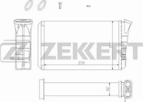 Zekkert mk-5028 - Теплообменник, отопление салона autodnr.net