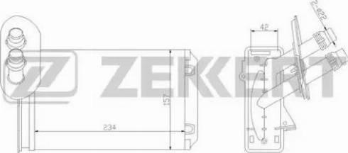 Zekkert mk5035 - Теплообменник, отопление салона autodnr.net