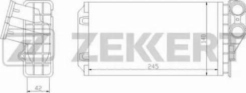 Zekkert mk-5044 - Теплообменник, отопление салона autodnr.net