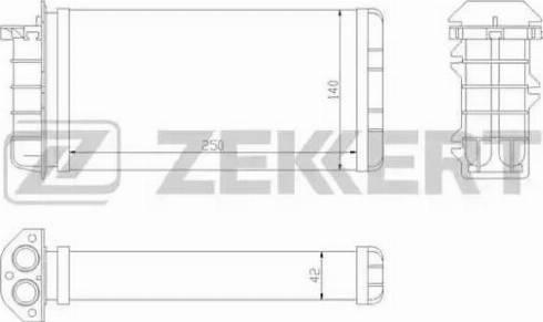 Zekkert mk5048 - Теплообменник, отопление салона autodnr.net