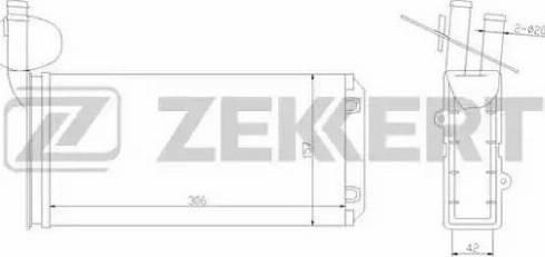 Zekkert mk-5064 - Теплообменник, отопление салона autodnr.net