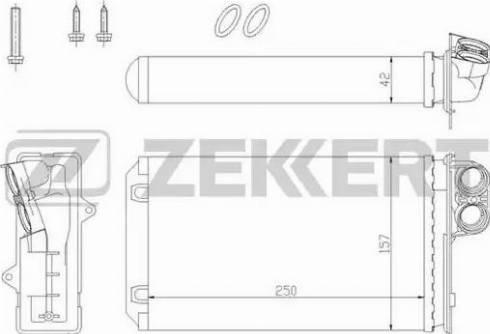 Zekkert mk-5067 - Теплообменник, отопление салона autodnr.net