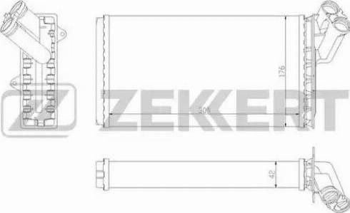Zekkert mk-5068 - Теплообменник, отопление салона autodnr.net