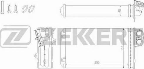 Zekkert mk5078 - Теплообменник, отопление салона autodnr.net