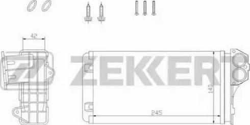 Zekkert mk-5088 - Теплообменник, отопление салона autodnr.net