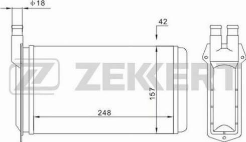 Zekkert mk5108 - Теплообменник, отопление салона autodnr.net