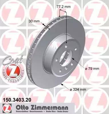 Zimmermann 150.3403.20 - Тормозной диск autodnr.net