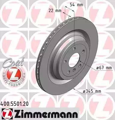 Zimmermann 400.5501.20 - Тормозной диск autodnr.net