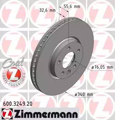 Zimmermann 600.3249.20 - Тормозной диск autodnr.net