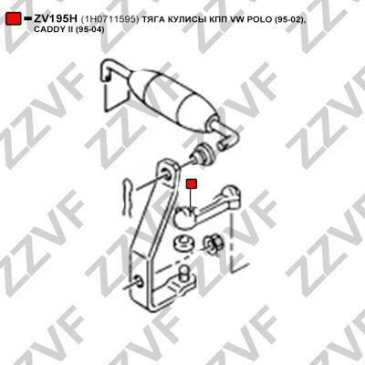 ZZVF ZV195H - Шток вилки перемикання передач autocars.com.ua